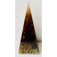 пірамідка з димчастого кварцу висока