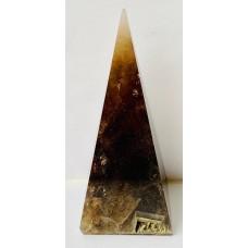 Пирамидка из дымчатого кварца высокая