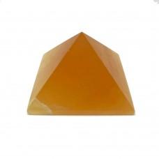 Пирамидка из оникса медового 5х5см