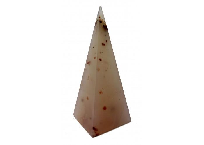 Пирамидка из розового халцедона высокая