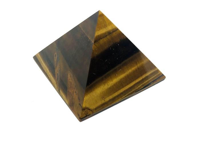 Пирамидка из тигрового глаза 5х5 см