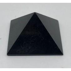 Пірамідка з чорного нефриту 3х3 см