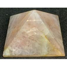 Пірамідка з рожевого кварцу 5 х 5 см
