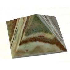 Пірамідка з яшми геліотропу 2х2 см