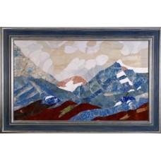 """Флорентийская мозаика картина """"Голубые горы"""""""
