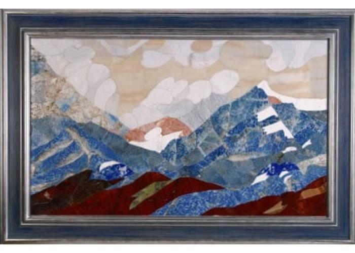 """Флорентійська мозаїка картина """"Блакитні гори"""""""