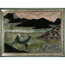 """Флорентійська мозаїка картина """"Вісник з Гімалаїв"""""""
